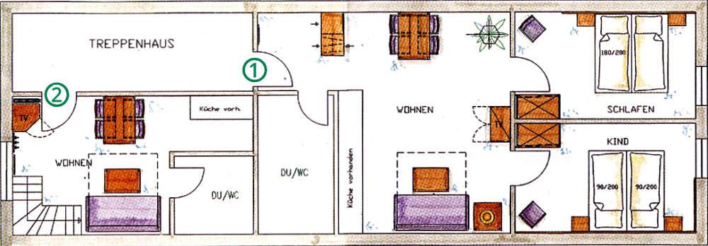 Lageplan der Ferienwohnungen