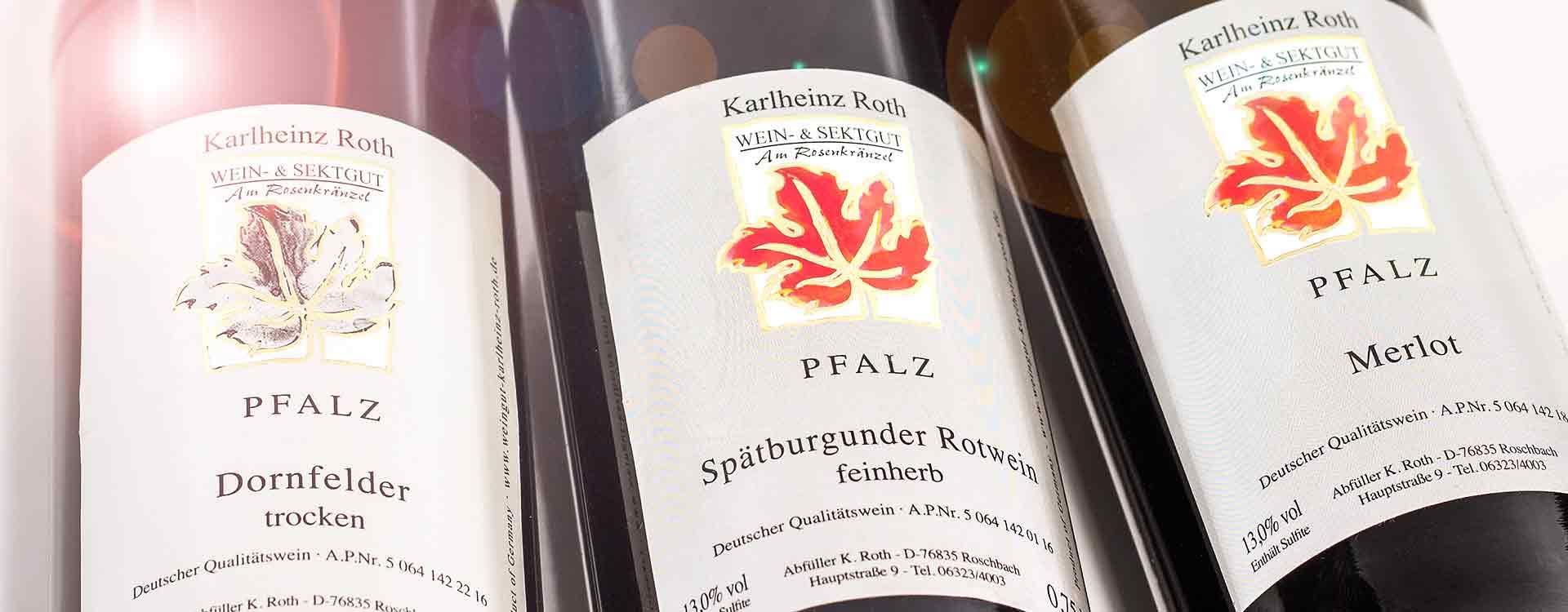 Rotweine vom Weingut Roth.